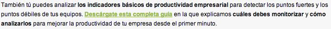 indicadores productividad empresarial