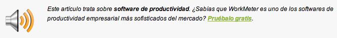 software productividad v1