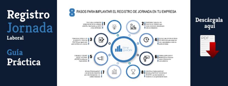 Guía 8 pasos para implantar un sistema de Registro de Jornada